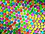 Abstract background _ different color cubes