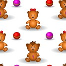 Background, teddy bears