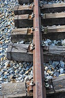 Detail of an abandoned railroad
