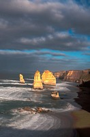 Dawn and Storm Break Over the Twelve Apostles