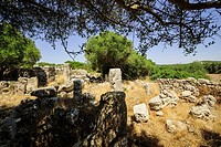 historic site Biniaiet, or San Vicenç D Alcaidús, postalayótica time, 550-123 b. C., Mahon Menorca, Balearic Islands, Spain