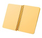 Notebook with yellow pages on a spiral