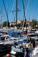 Sweden, the harbour of Visby in Gotland