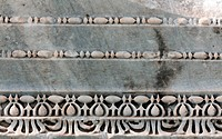 Carved patterns in marble