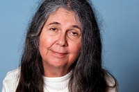 Elderly unkempt woman with blurry eyed look