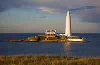 St Mary's lighthouse, Whitley Bay, Northumberland, England
