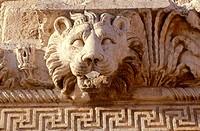Lebanon, Baalbeck ruins, lion head