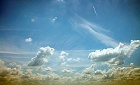 blue sky_white clouds
