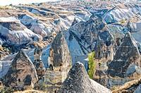 Von Menschen genutzte Natur in Kappadokien Türkei, Human use of nature in Cappadocia, Turkey