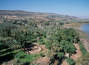Aerial photograph of Tel Beit Yerah near the Sea of Galilee