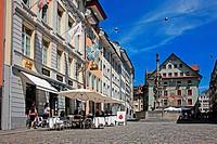 Switzerland, Canton Lucerne, Lucerne, Weinmarkt