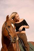 blond riding girl