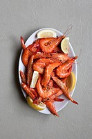 A plate of prawns (thumbnail)