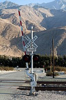 Detail of a railroad crossing