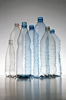 Plastic bottles arrangement