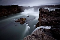 Godafoss waterfall, Fossholl, northern Iceland, Iceland, Europe