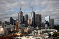 Skyline of Melbourne financial district