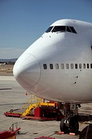 Jumbo jet on runway (thumbnail)