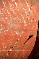 Numbers on hull of a tanker ship