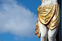 Gold loin cloth of Jesus statue