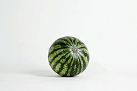 A whole ripe watermelon, studio shot