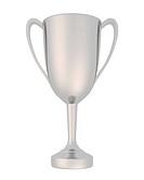 3D Pokal silber freigestellt