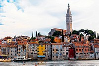 Old City of Rovinj and Saint Euphemia Church in Croatia