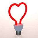 Red heart shaped light
