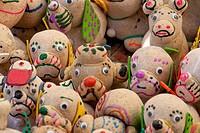 Mexico, Guanajuato, San Miguel de Allende, figures for sale