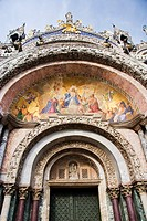 Main entrance in San Marco cathedral basilica, Venice