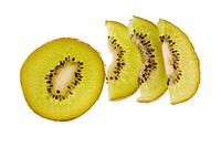 Studio shot of slices of kiwifruit