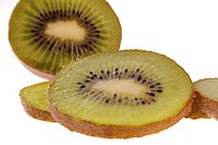 A close_up of slices of kiwifruit