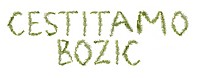 Spruce twigs forming the phrase &039,Cestitamo Bozic&039,
