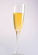 Close_up of a champagne glass