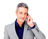 Confident Businessman on phone