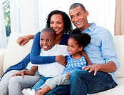 Portrait of a happy Afro_american family