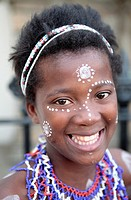 Portrait of Xhosa Girl, Grahamstown, Eastern Cape, South Africa
