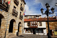 Main square or Spain's square of Reinosa, Cantabria, Spain