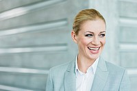 Germany, Stuttgart, Businesswoman smiling