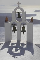 Chapel Agios Georgios, Imerovigli, Santorini, Cyclades Islands, Greece / bells