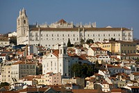 Santa Luzia church and Sao Vicente monastery, Lisbon, Portugal, Europe
