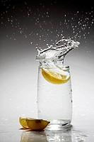 Splash in water, lime