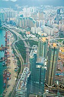Hong Kong High angle View