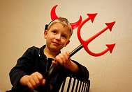 A boy as a devil with horns and a trident There´s a tradition in Czech Republic, that in the evening of St Nicholas feast on December 5 Saint Nicholas...