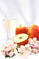Cider and apple _ still_life