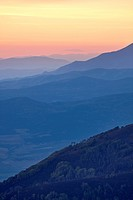 Mountain layers at sunset, Manti_La Sal National Forest, Utah, United States of America, North America