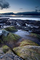 Rock Pools at dusk, Doo Craigs, St Andrews, Fife, Scotland