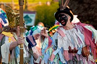 Beltane Wickerman celebrations at Buster Ancient Farm, Hampshire, England, UK, Europe