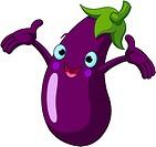 Eggplant Presenting Something