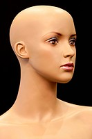 Face of girl mannequin